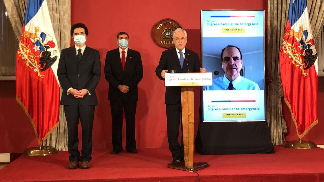Presidente Piñera: Nuevo Ingreso de Emergencia se extenderá por cuatro meses