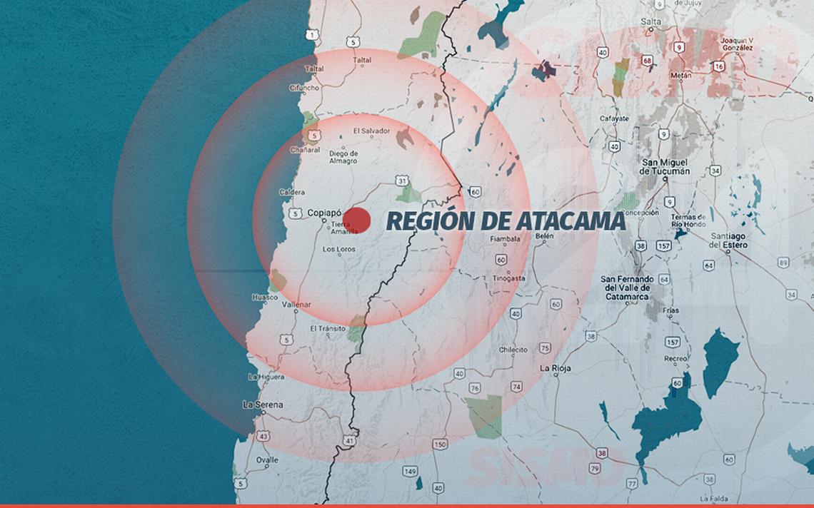 Temblor se registró este domingo en la Región de Atacama