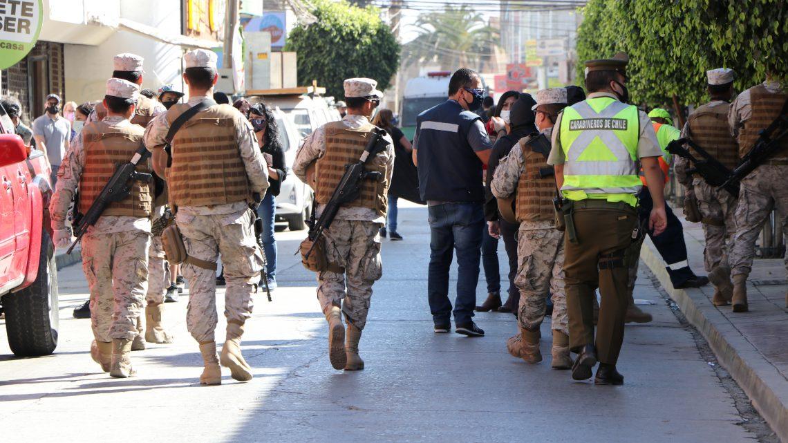 Fuerzas Armadas junto a Seremi de Salud realizaron operativo en centro de Copiapó